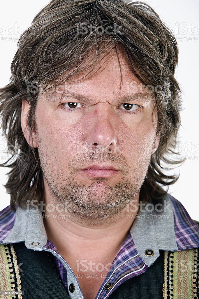 Grungy portrait of a serious man royalty-free stock photo