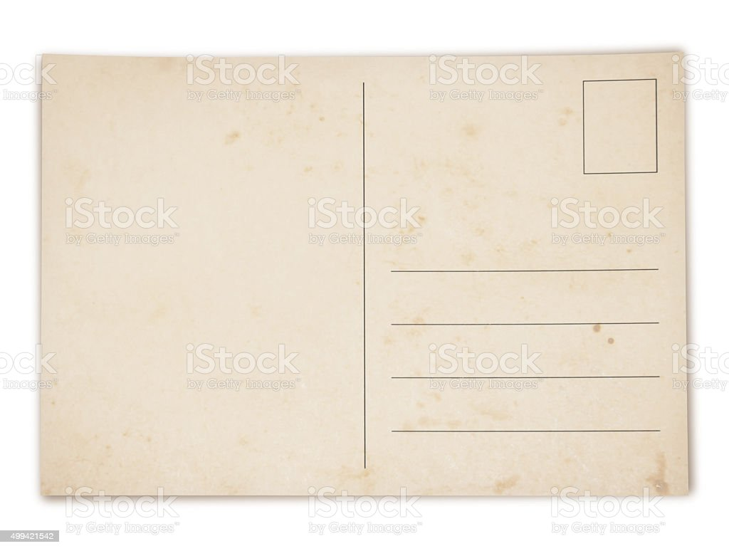 Grungy Postcard (with path) stock photo