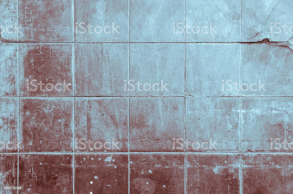 Grungy Red And Blue Tiles stock photo