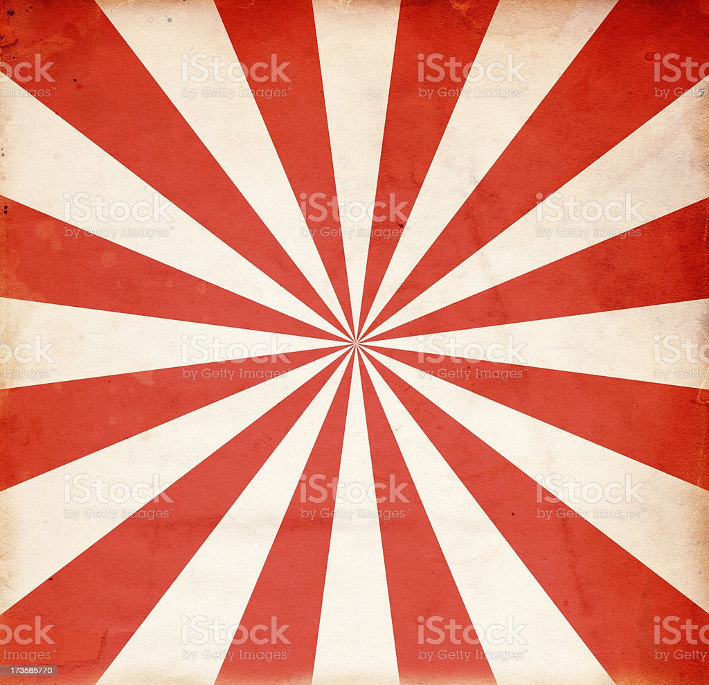 Grungy Red and White Retro Burst Paper XXXL royalty-free stock photo
