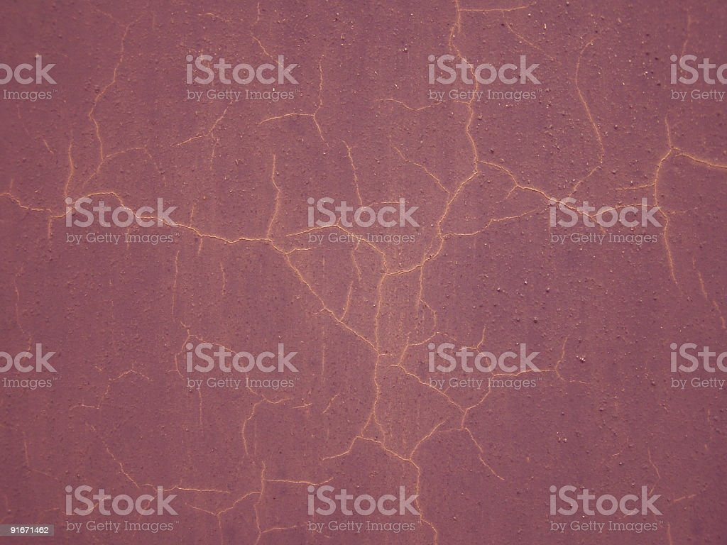 Grungy red cracked wall stock photo