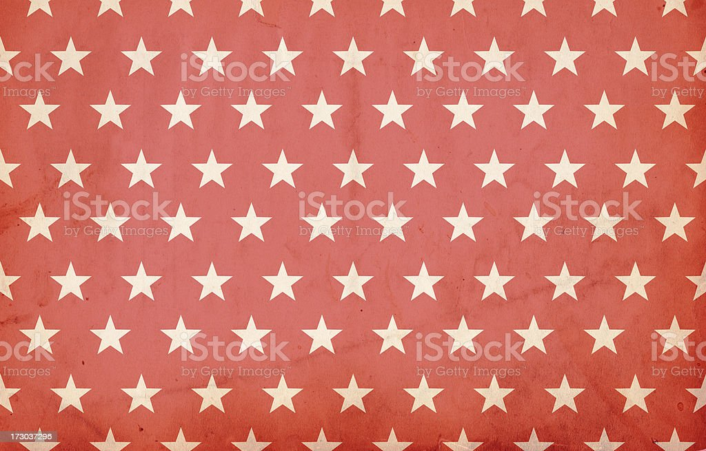 Grungy Red Patriotic Star Paper: XXXL Background royalty-free stock photo