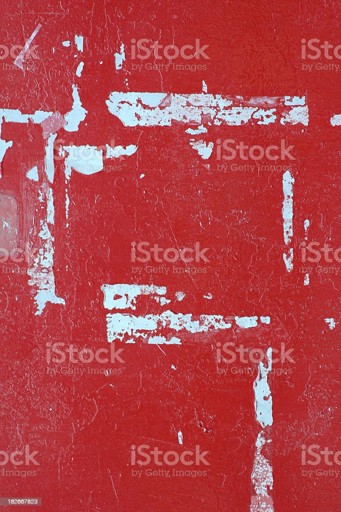 Grungy Red Wall stock photo