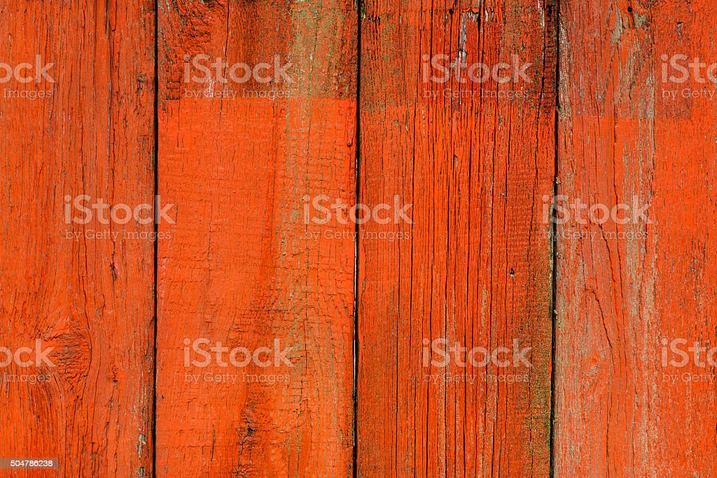 grungy, red, wooden door as background object stock photo