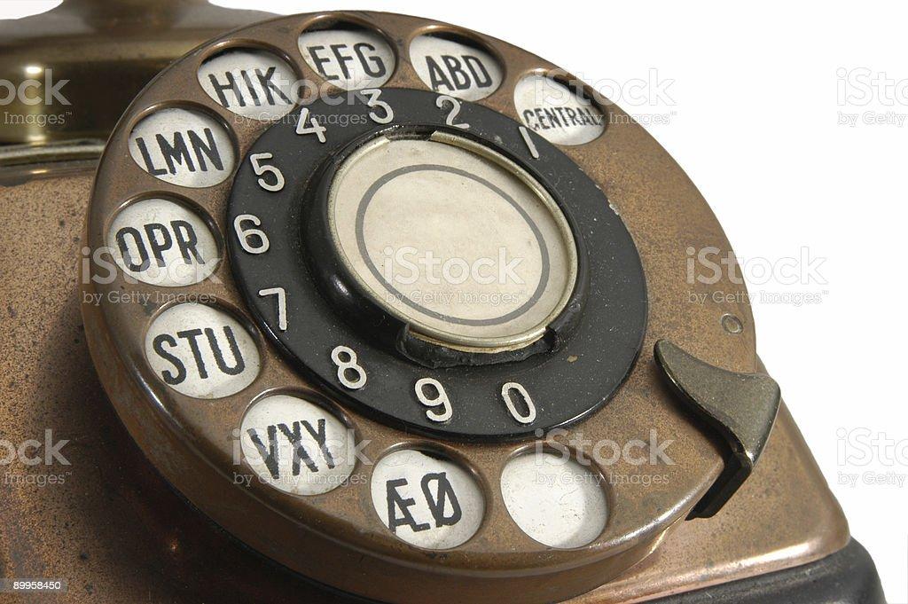 Grungy Retro Phone Dial stock photo