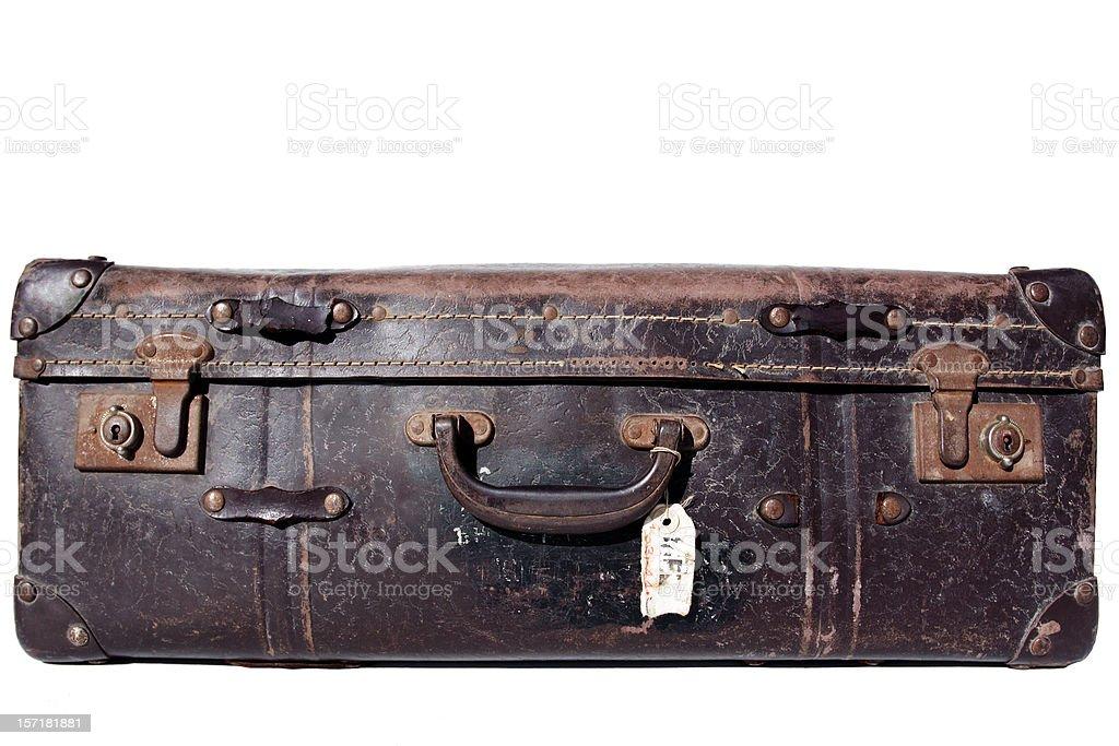 grungy retro suitcase, isolated royalty-free stock photo