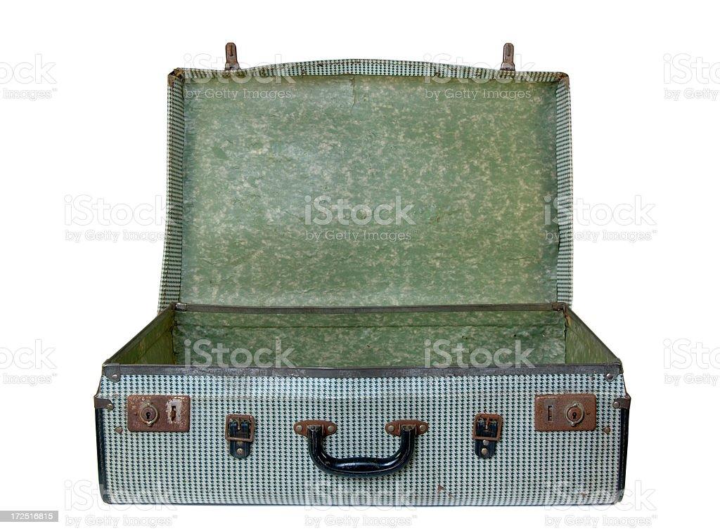 Grungy retro suitcase royalty-free stock photo