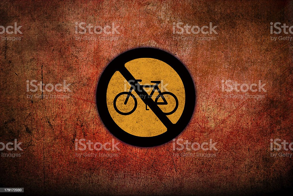 Grungy Road Sign Glossy royalty-free stock photo
