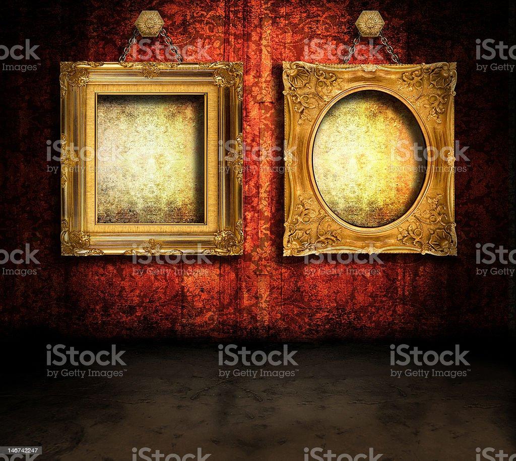 Grungy con bastidores foto de stock libre de derechos