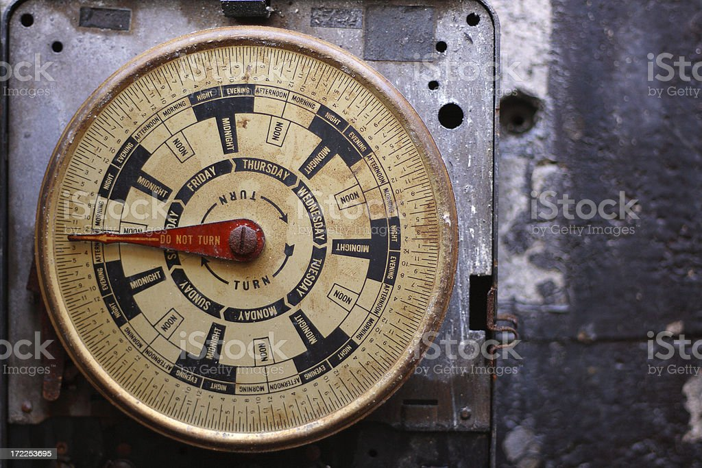 Grungy round meter royalty-free stock photo