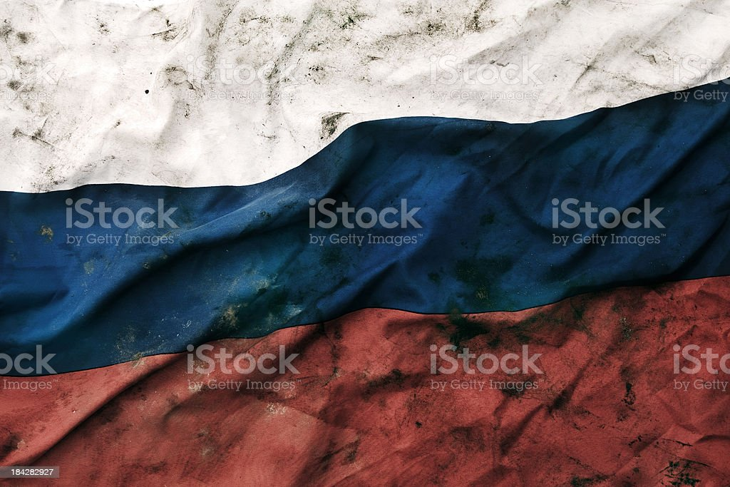 Grungy Russian Republic Flag royalty-free stock photo