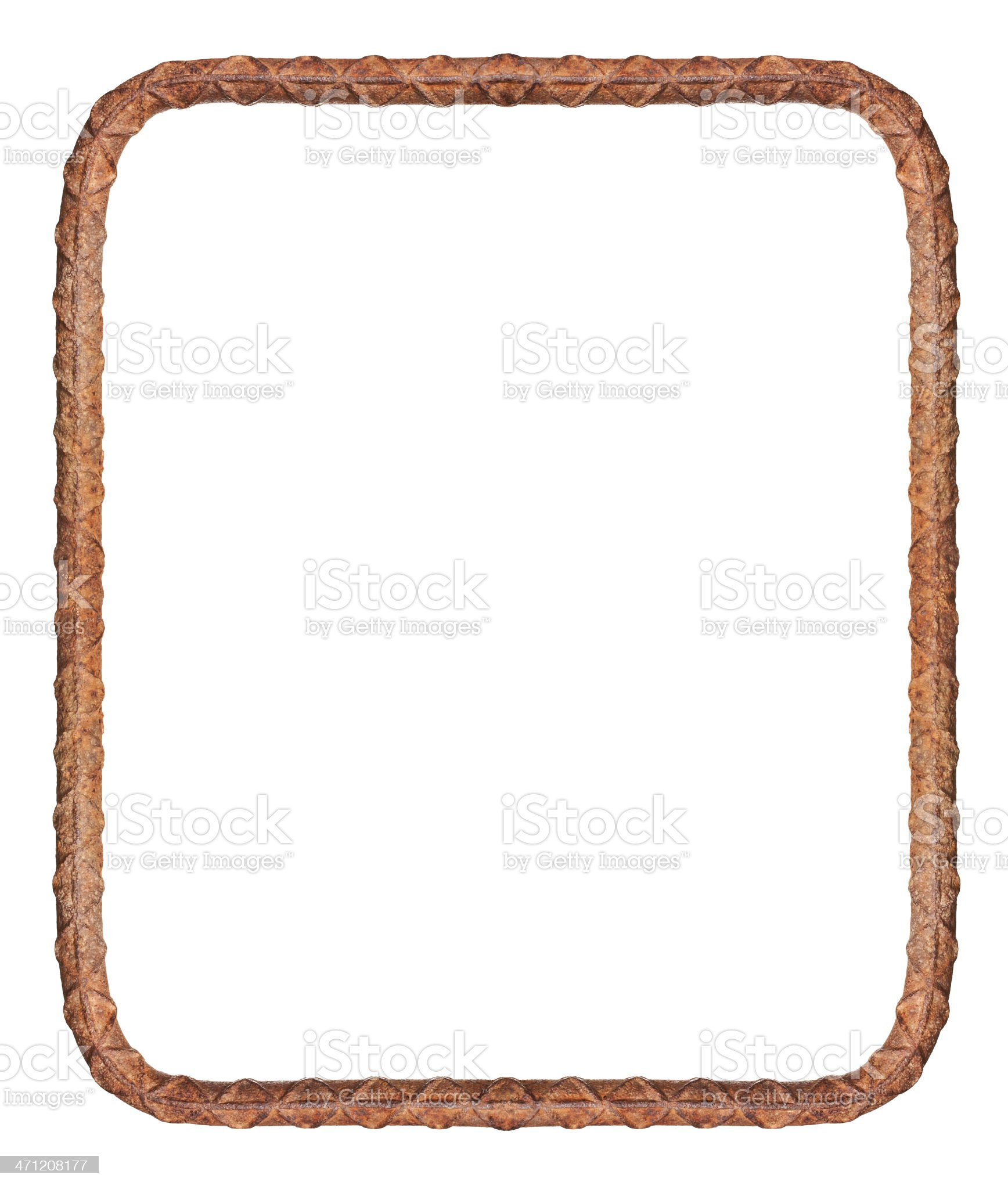 Grungy Rusted Frame Made of Rebar royalty-free stock photo
