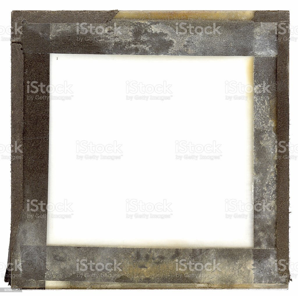 grungy slide frame royalty-free stock photo
