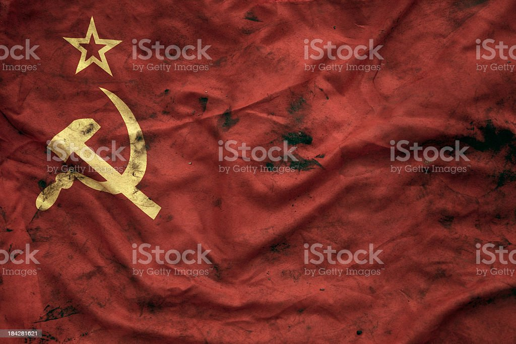 Grungy Soviet Union Flag stock photo