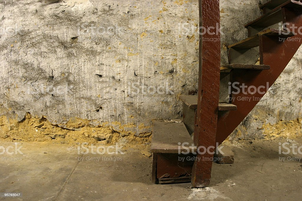 Grungy stairs and wall royalty-free stock photo