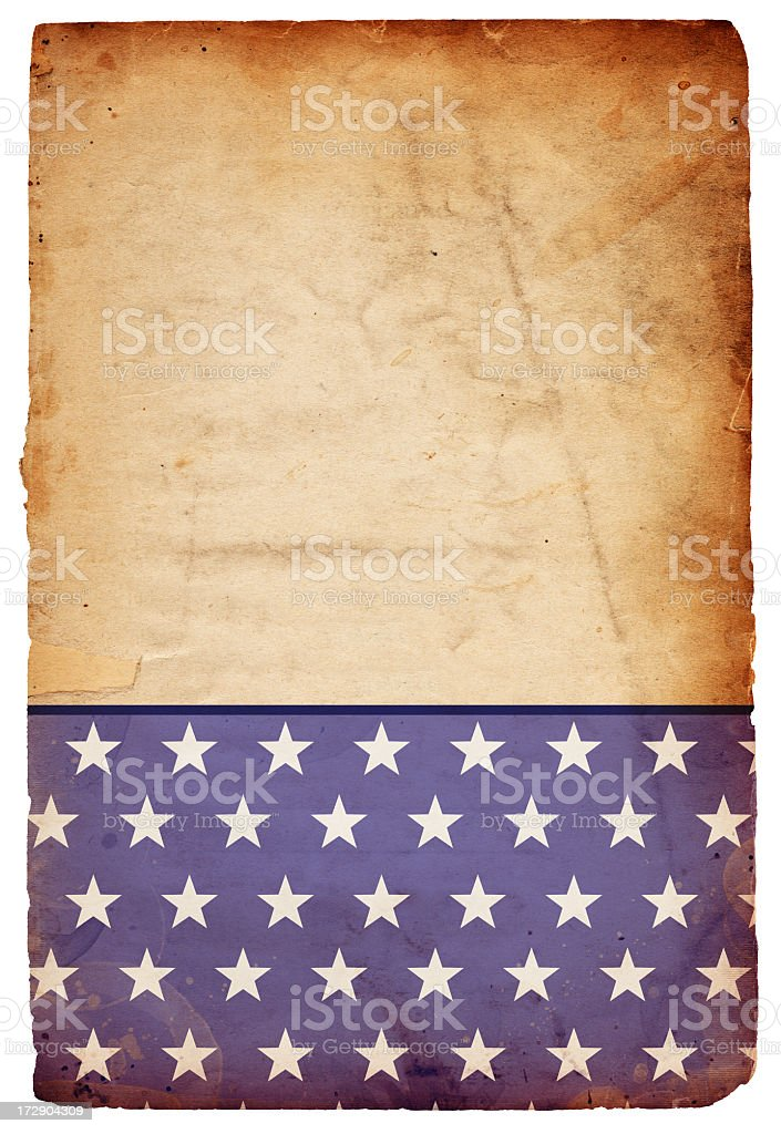 Grungy Star Paper XXXL royalty-free stock photo