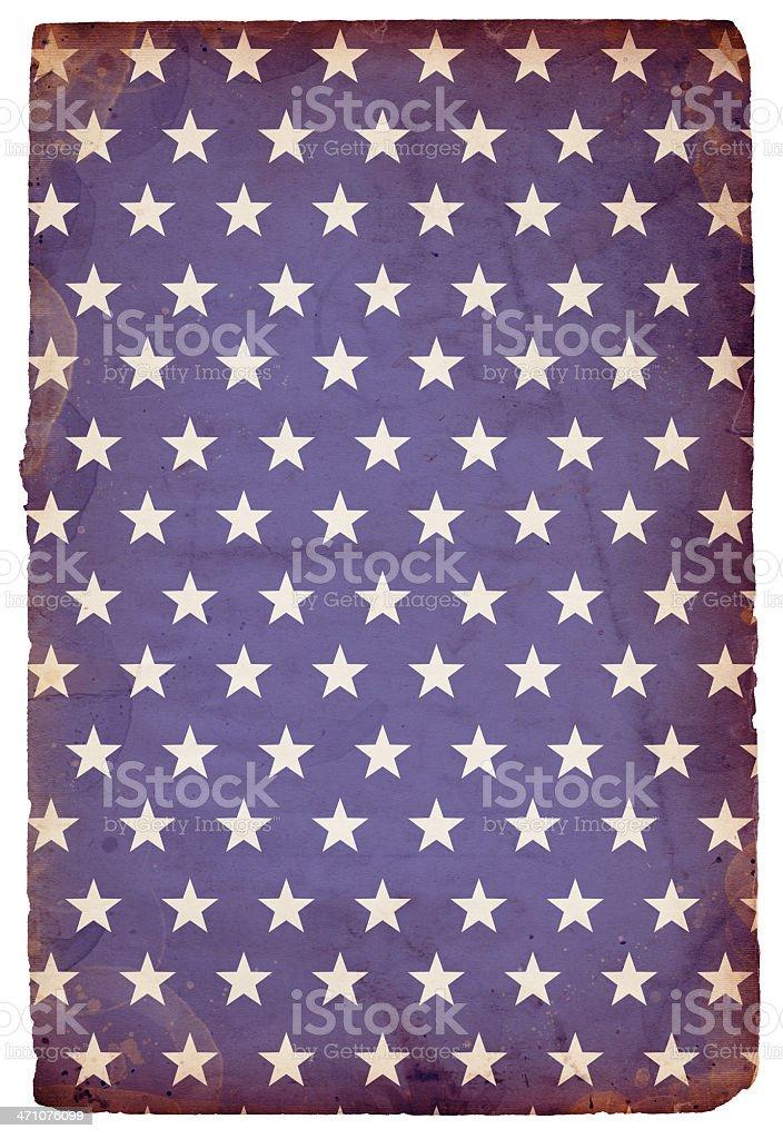 Grungy Star Paper XXXL royalty-free stock photo