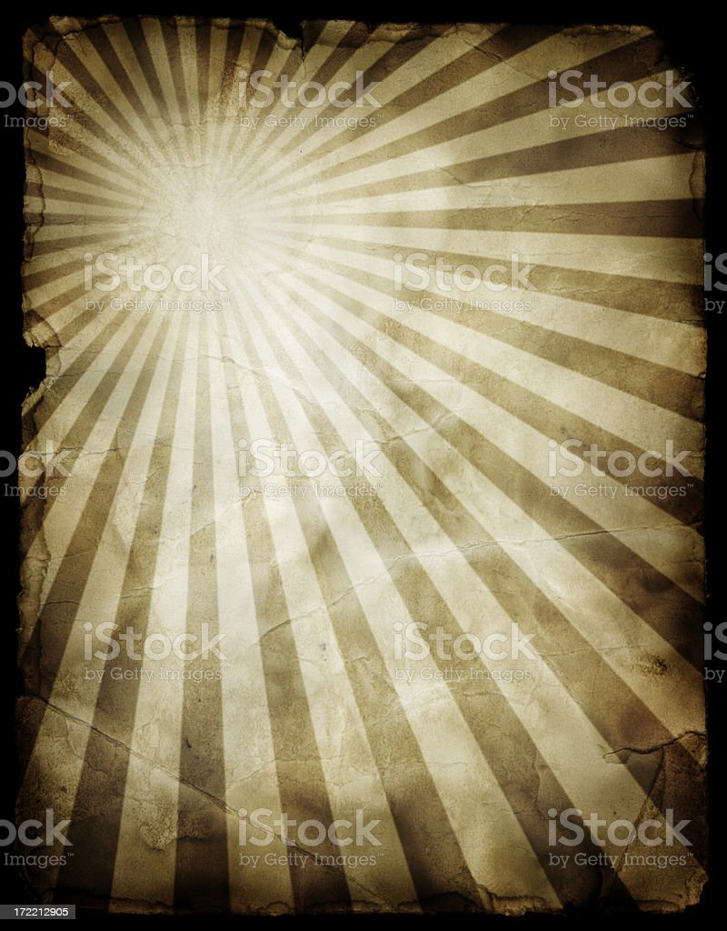 Grungy Starburst Pattern (includes Clipping Path) royalty-free stock photo