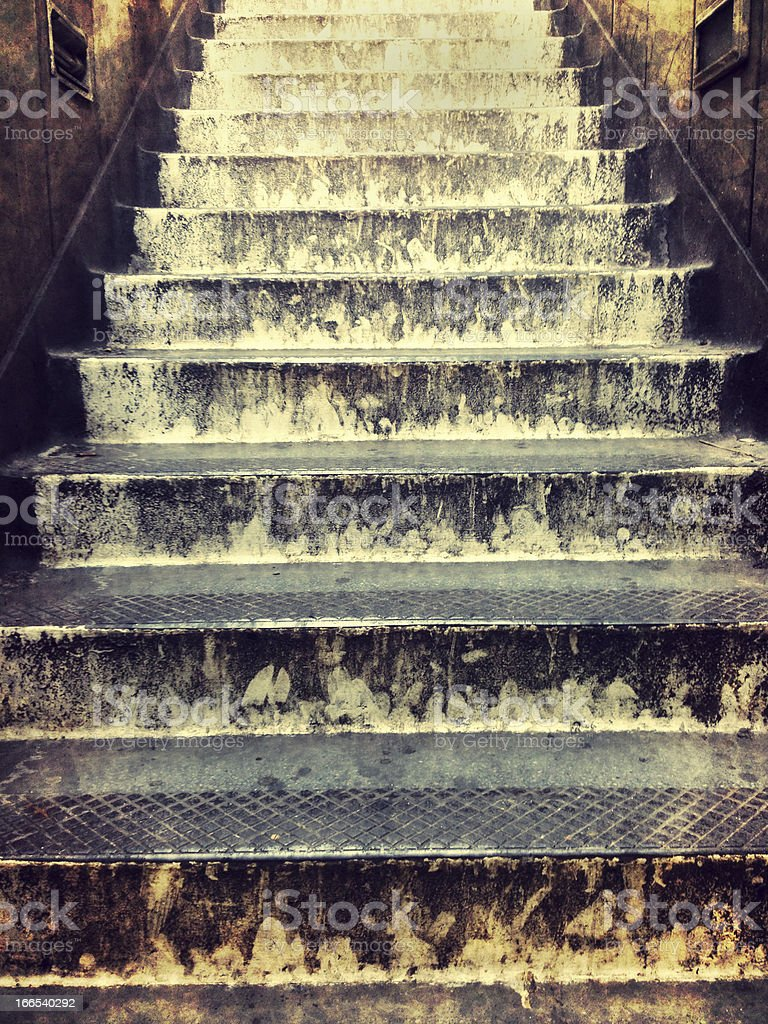 Grungy steps stock photo