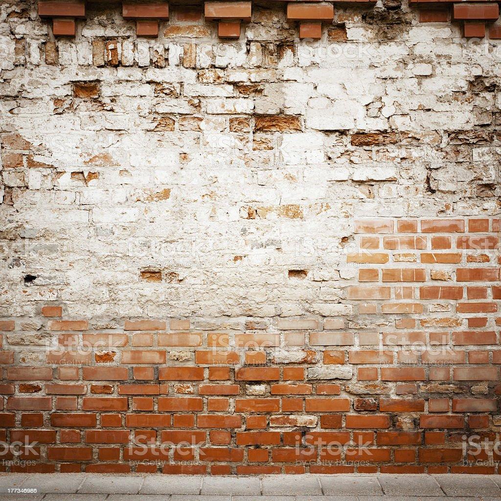 Grungy street wall royalty-free stock photo