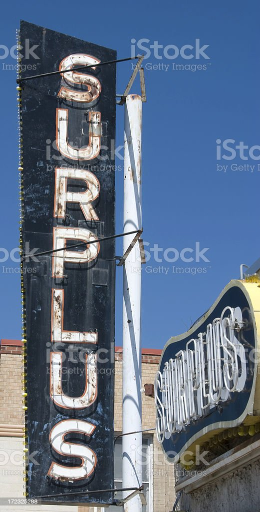 Grungy Surplus Signs royalty-free stock photo