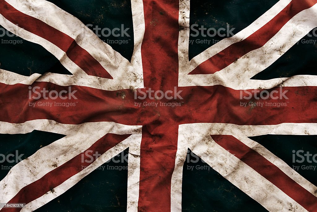 Grungy United Kingdom Flag stock photo
