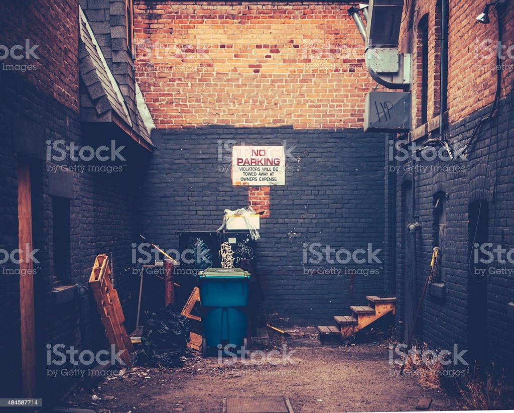 Grungy Urban Alley stock photo