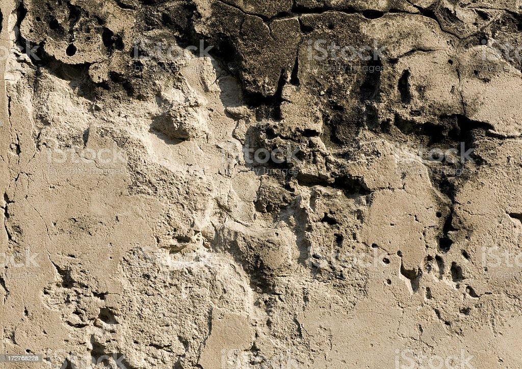 Grungy Wall with Cracks royalty-free stock photo