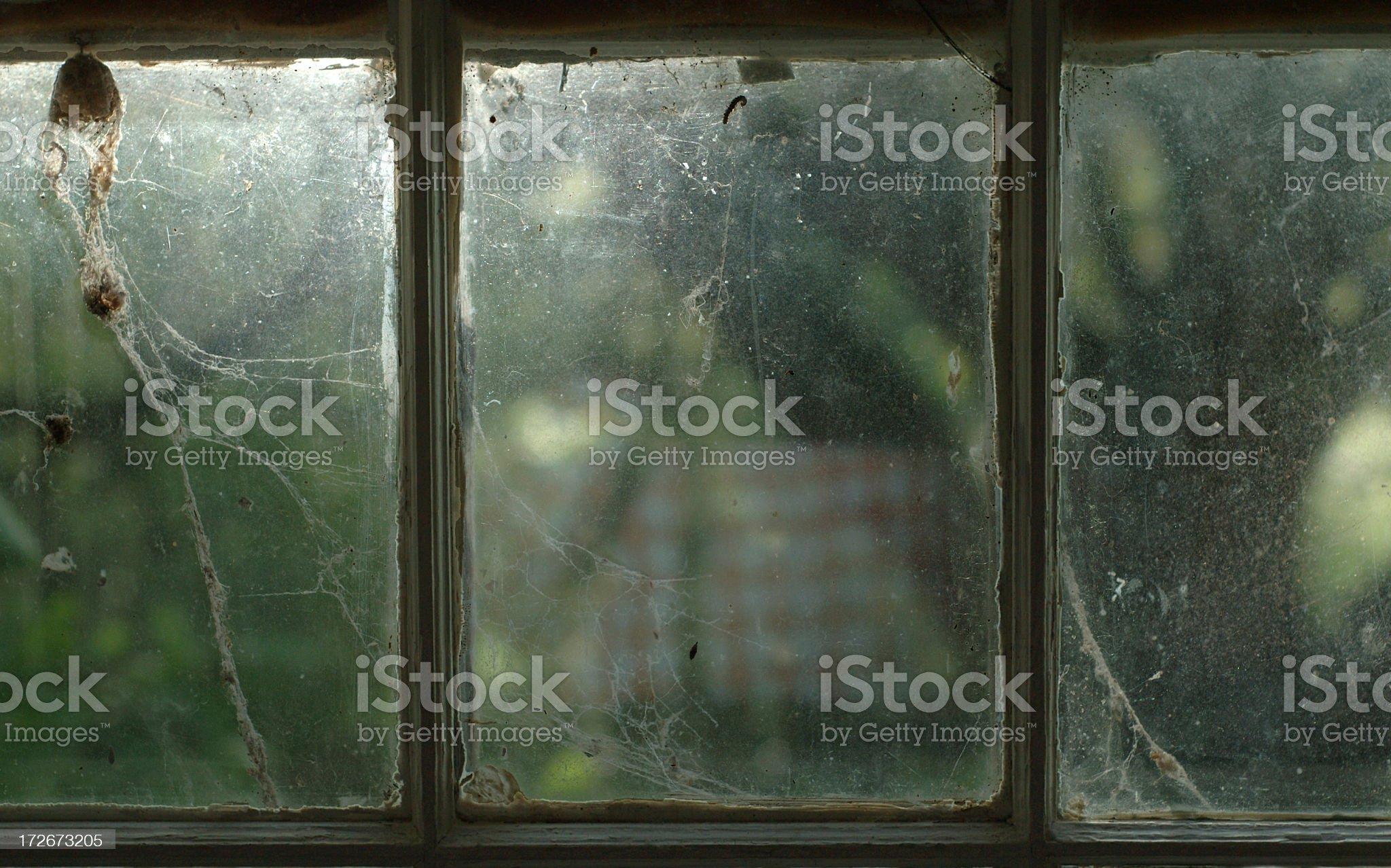 grungy window royalty-free stock photo