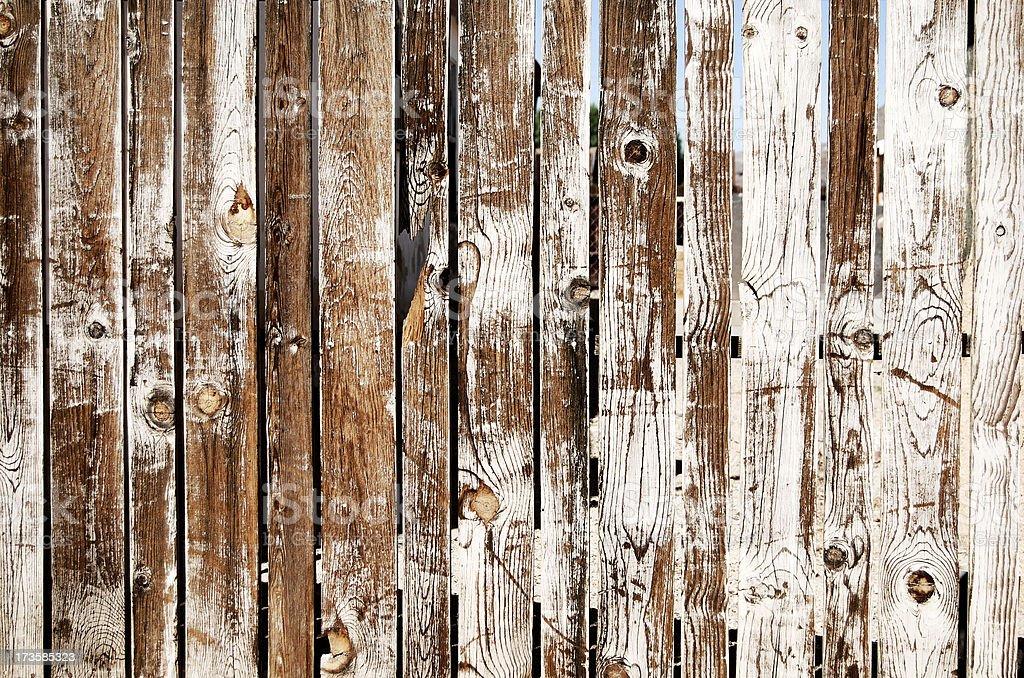 Grungy wood fence stock photo