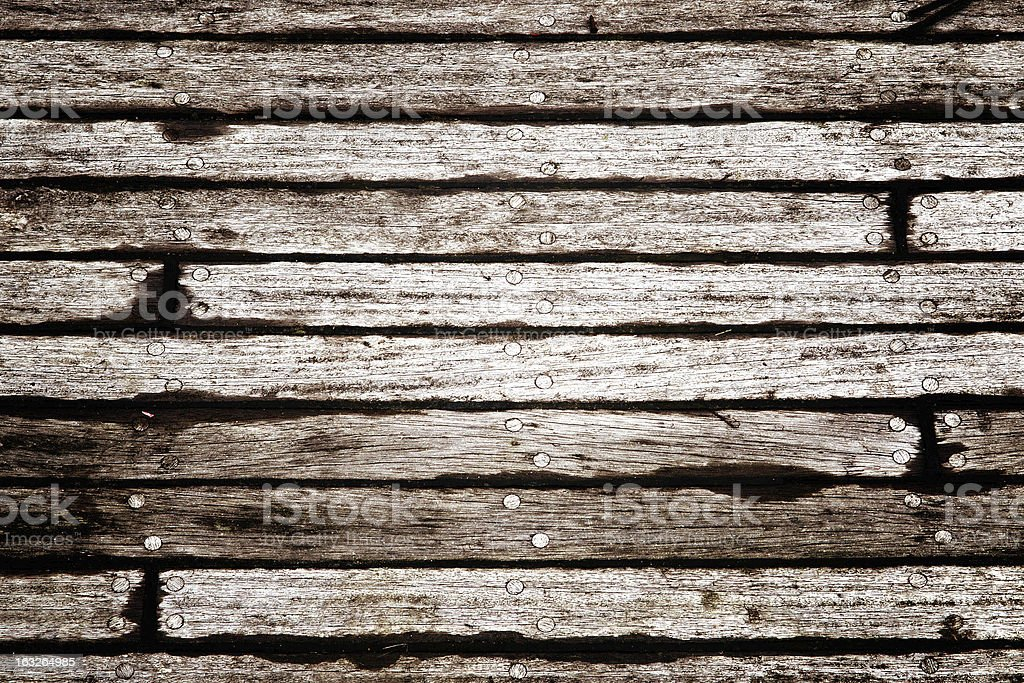 Grungy wood floor (texture) stock photo