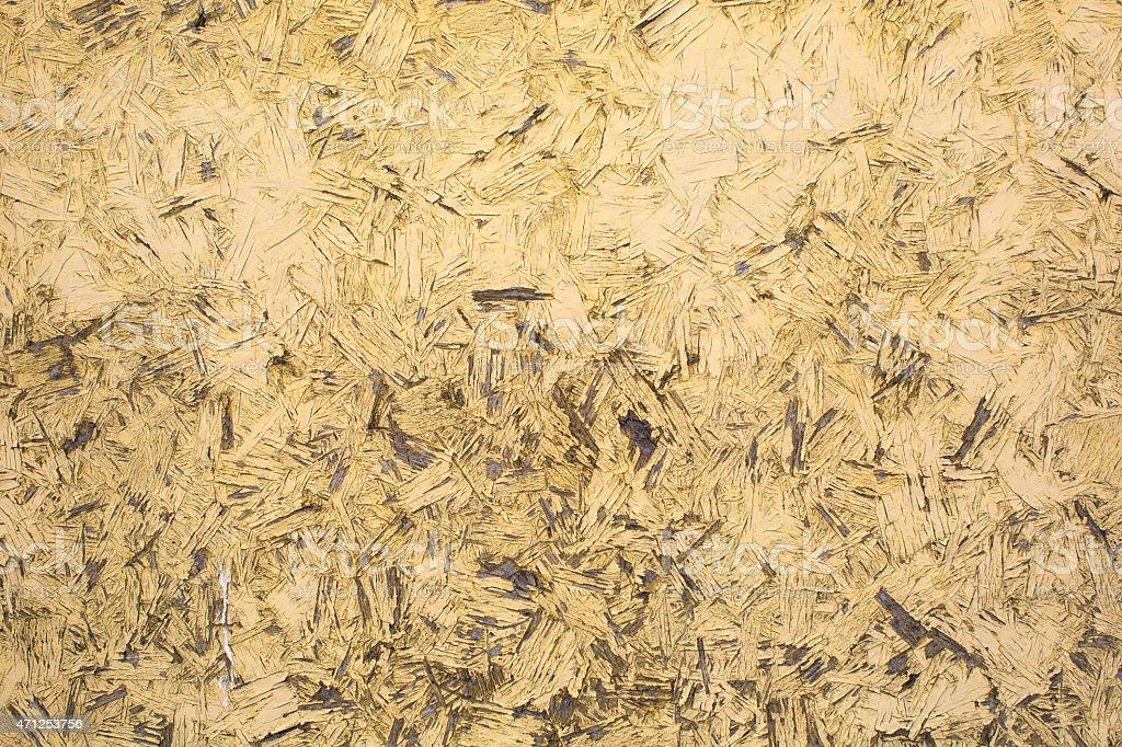 Grungy yellow background of cracked wood stock photo