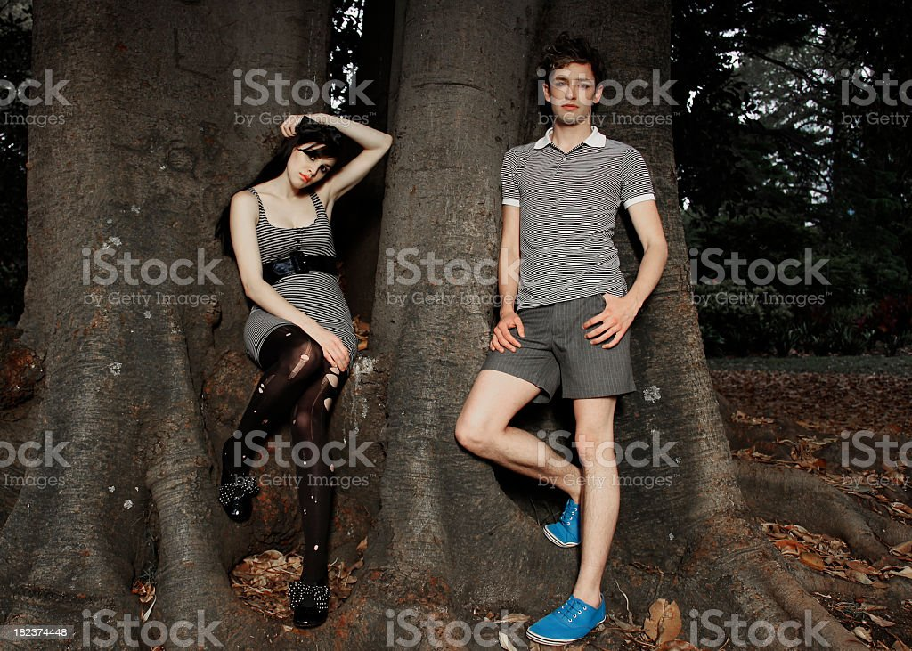 Grungy young couple royalty-free stock photo
