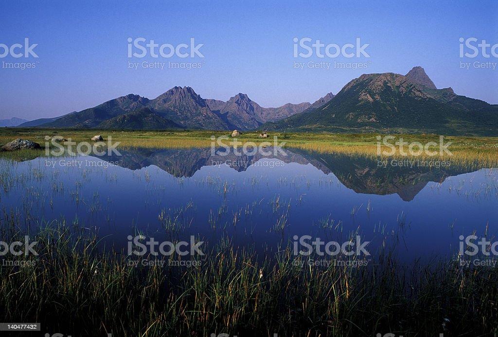 Grunnfjorden Natural Park royalty-free stock photo