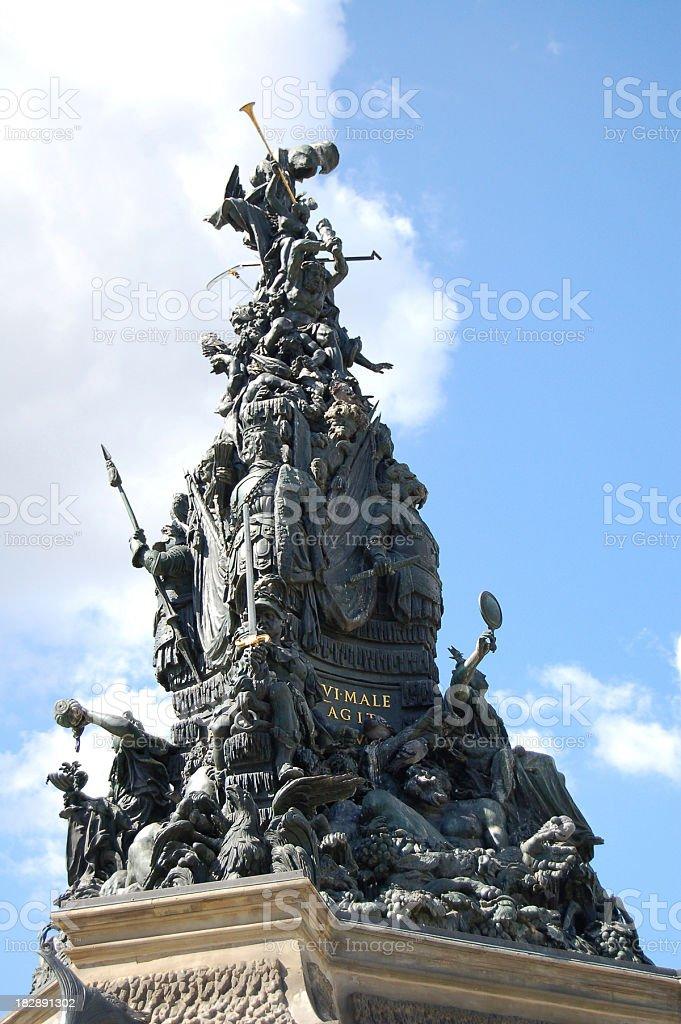 Grupello-Pyramide in Mannheim (Germany) royalty-free stock photo
