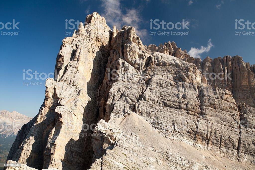 gruppo del Sorapiss, Italian dolomites stock photo