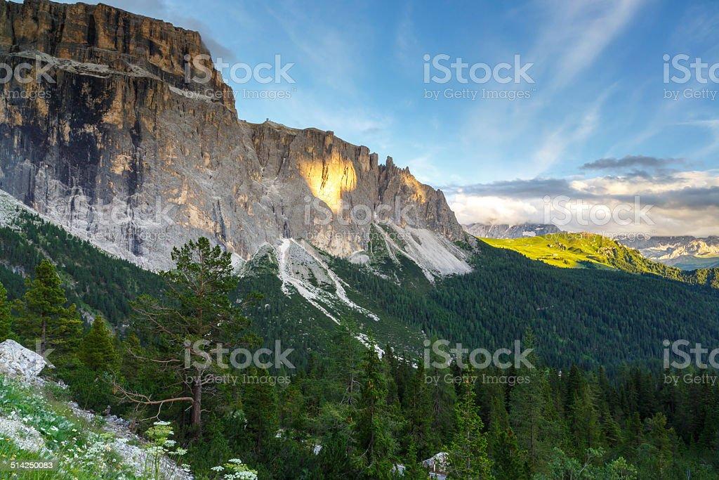Gruppo Sella in Dolomites, Italy stock photo