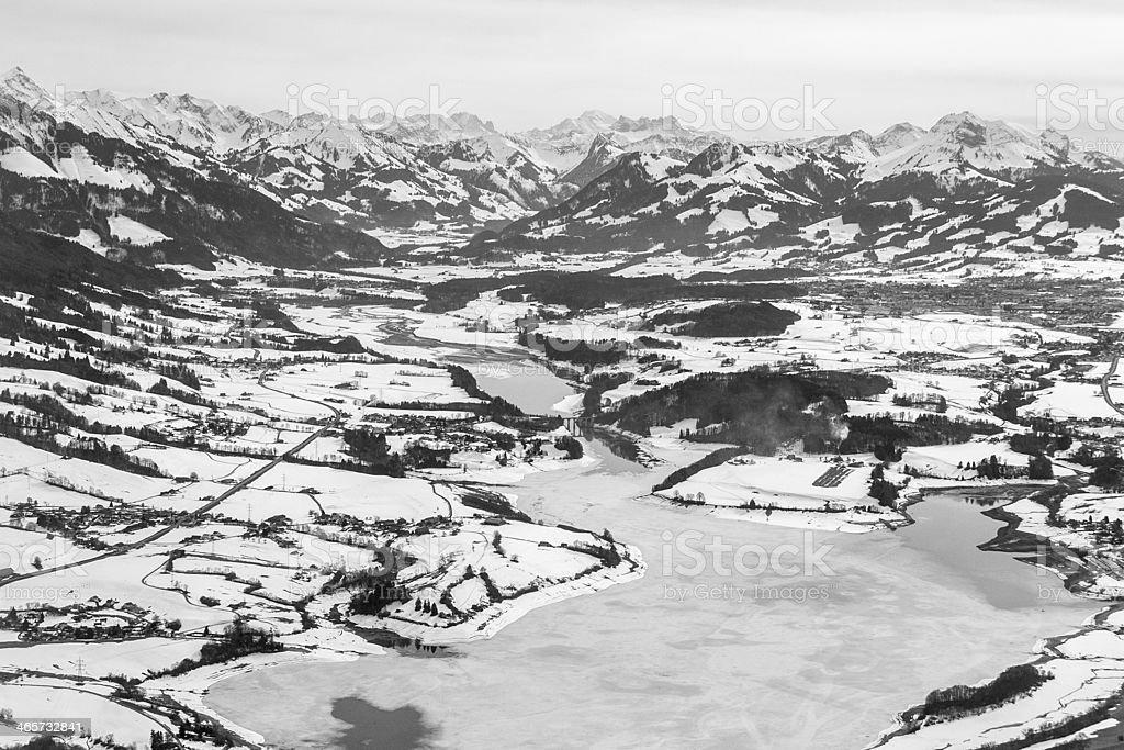 Gruyere lake in Canton Fribourg, Switzerland stock photo