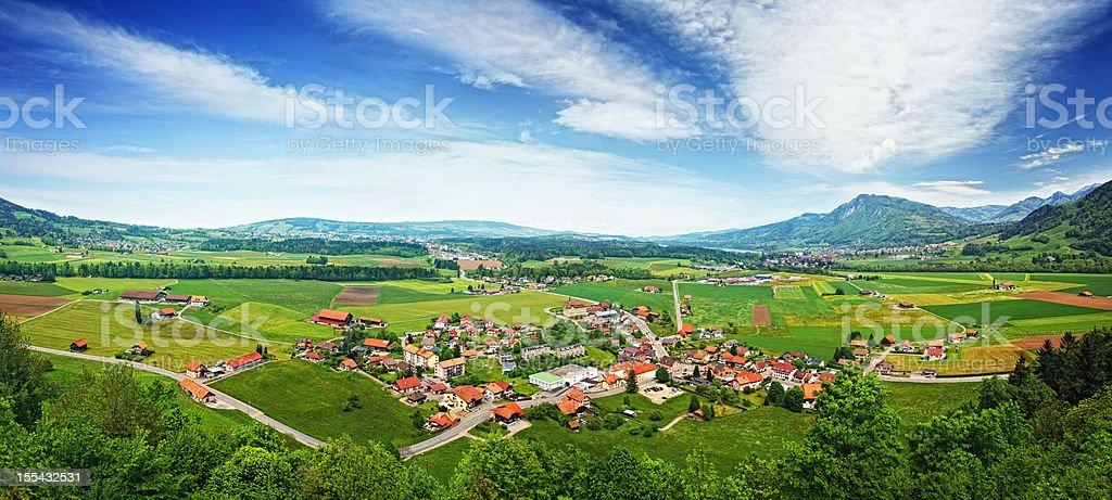 Gruyeres valley stock photo