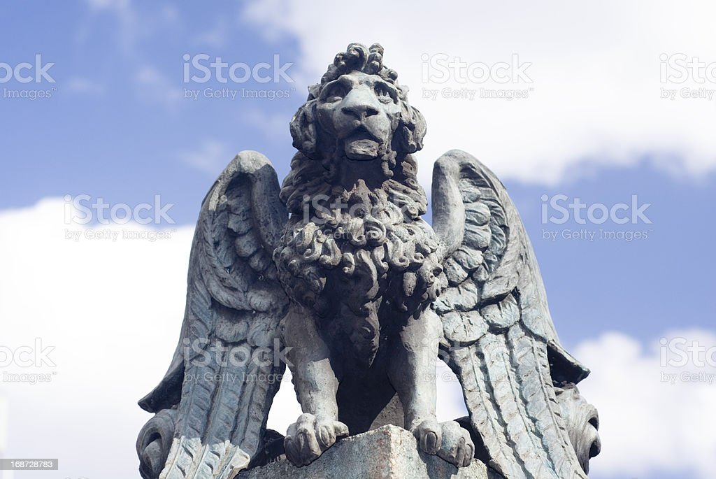 Gryphon statue, Sheffield stock photo