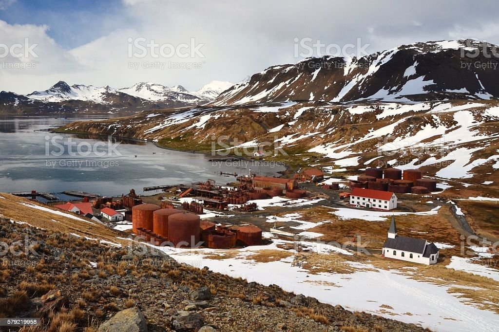 Grytviken Whaling Station stock photo