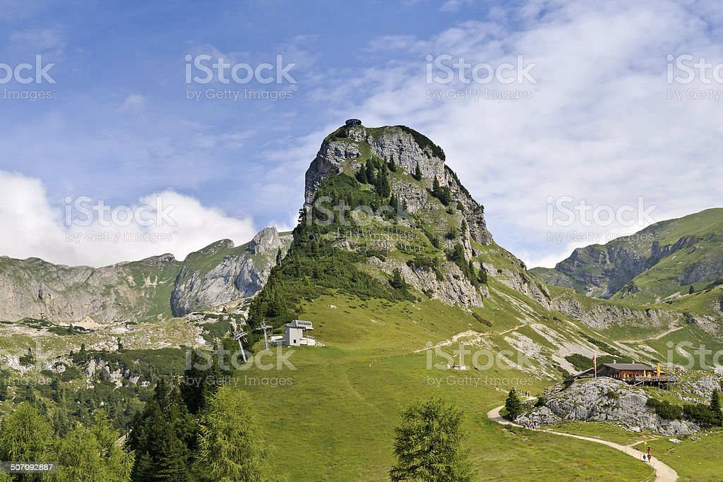 Gschollkopf and Mauritzalm in Rofan mountains, Tyrol, Austria stock photo