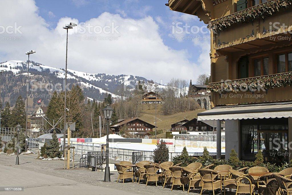 Gstaad in Switzerland - world famous ski resort stock photo