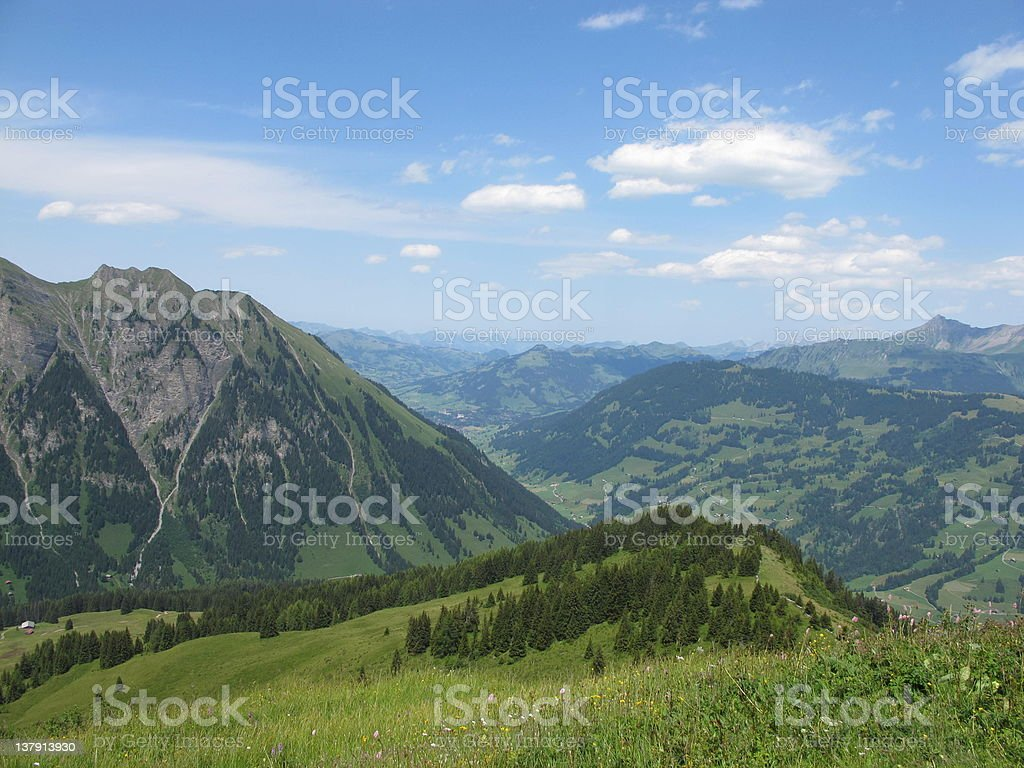 Gstaad royalty-free stock photo