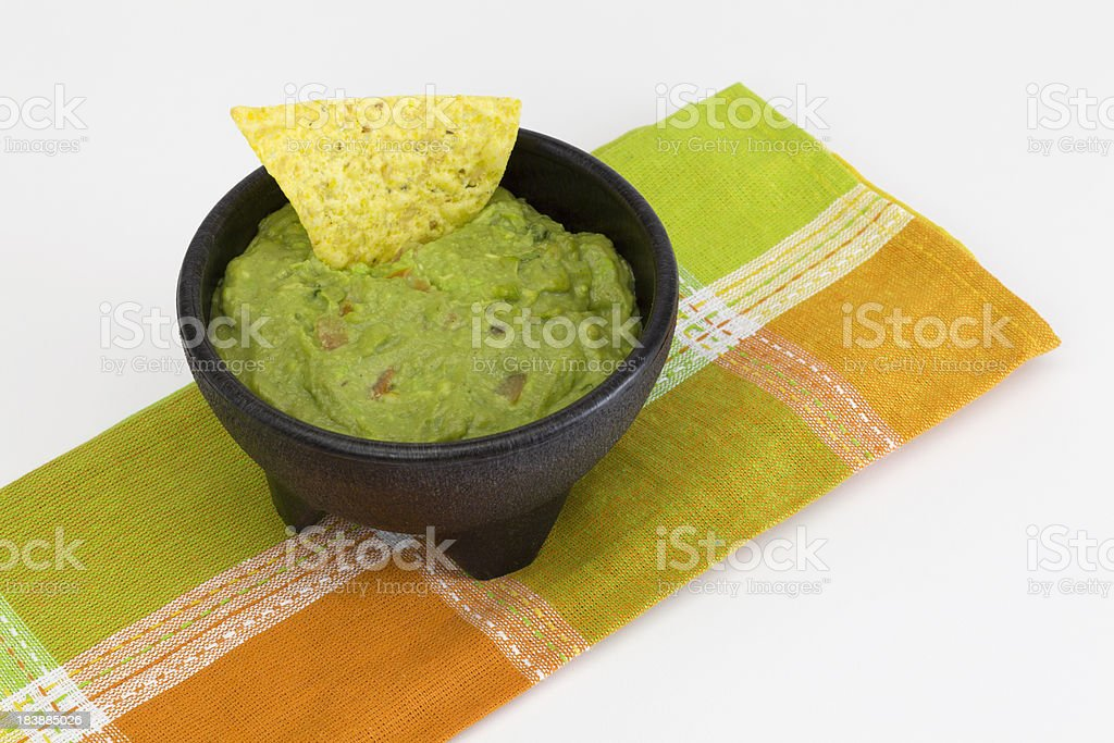 Guac and Chips stock photo
