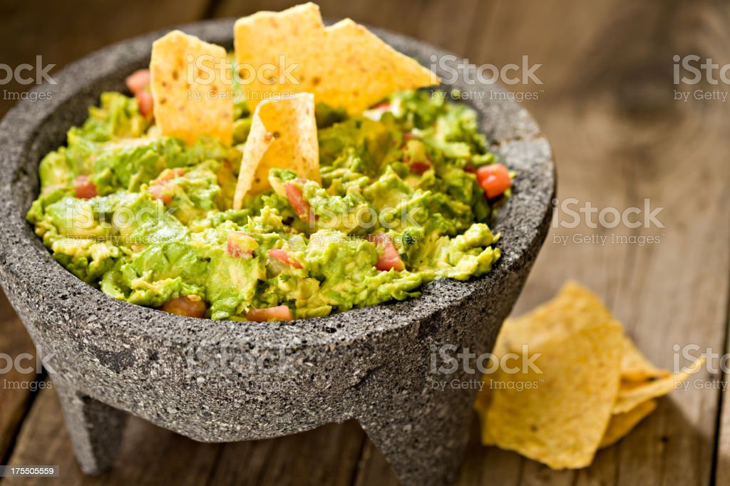Guacamole And Chips stock photo