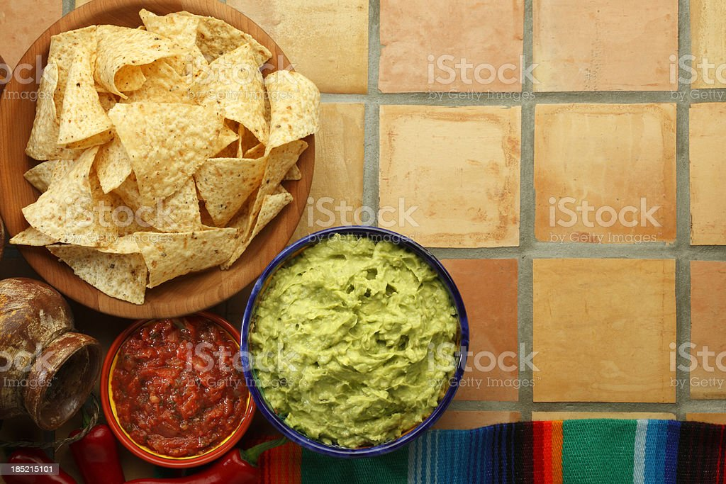 Guacamole and Chips royalty-free stock photo