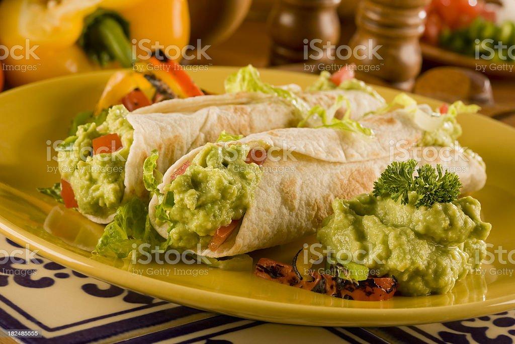 Guacamole Burrito stock photo
