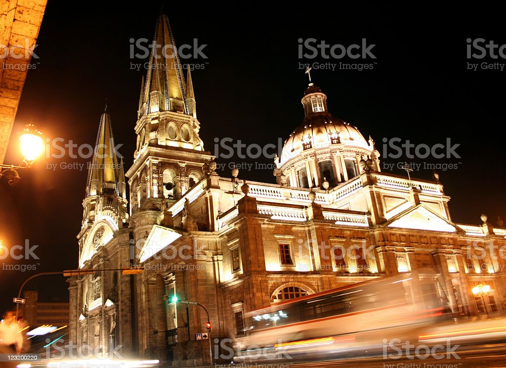 Guadalajara at Night stock photo