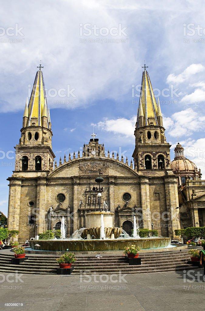 Guadalajara Cathedral in Jalisco, Mexico stock photo